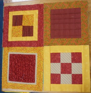 Estelle's quilt is coming on a treat