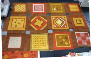 I hope you can see enough detail in the picture of Jean's almost finished quilt