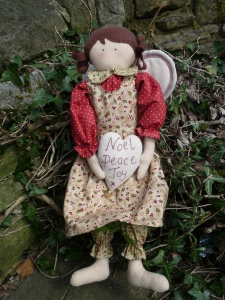 Angel Angelica. Big girls and little girls alike will love this Christmas Angel. Michaela will be showing us how to make her on Saturday the 27th of June. A kit will be available to buy, though it will not be identical to the angel in the photo.)