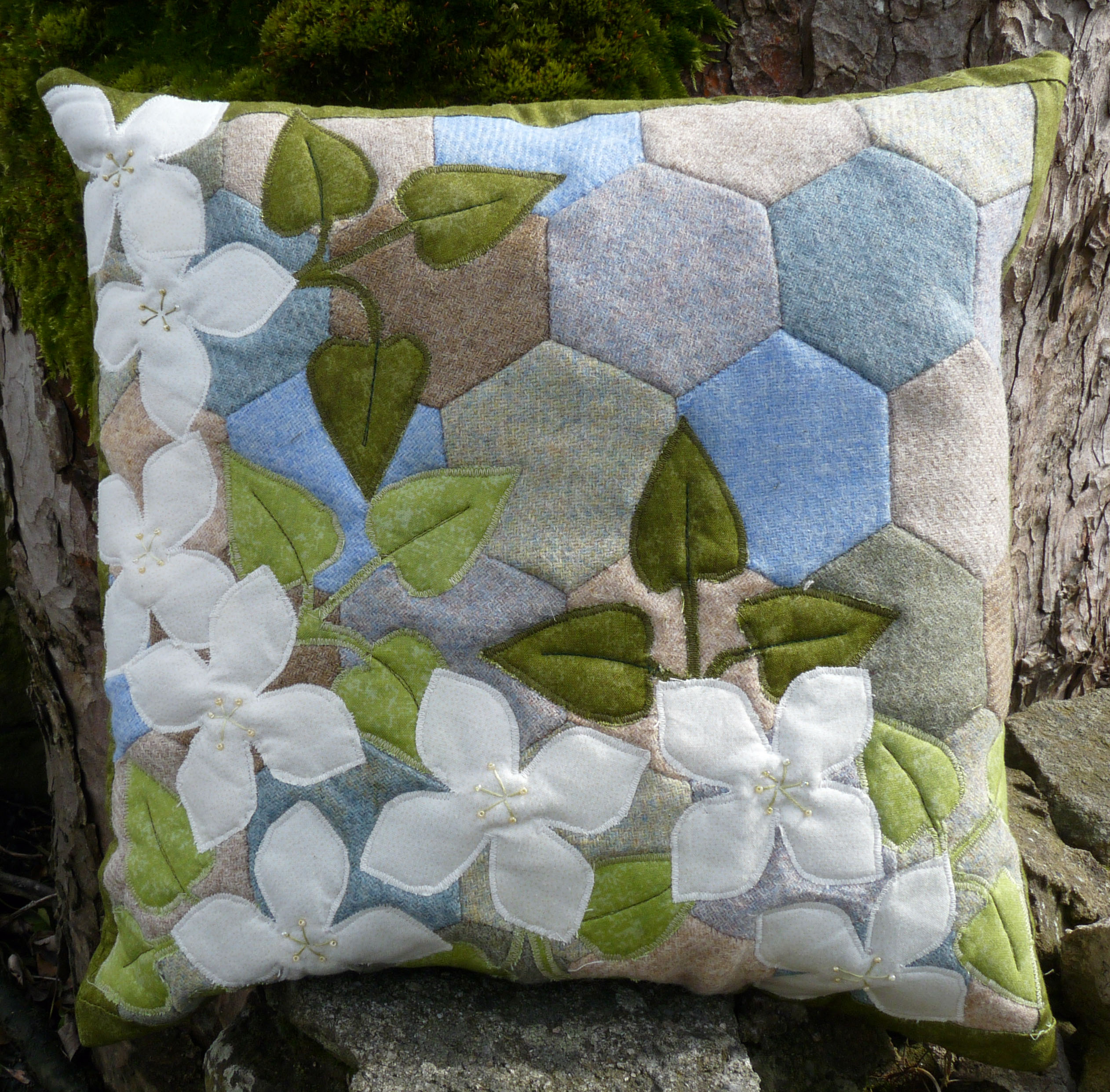 English Country Garden Cushion from Quilting Antics